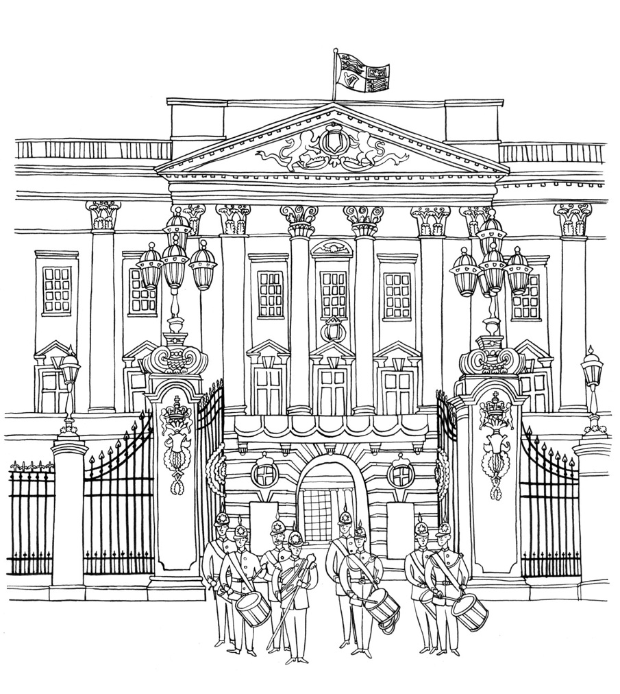 Free Coloring Pages Of Buckinghame Palace