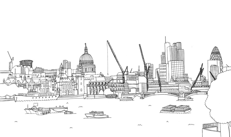 Tower Bridge London Coloring Pages