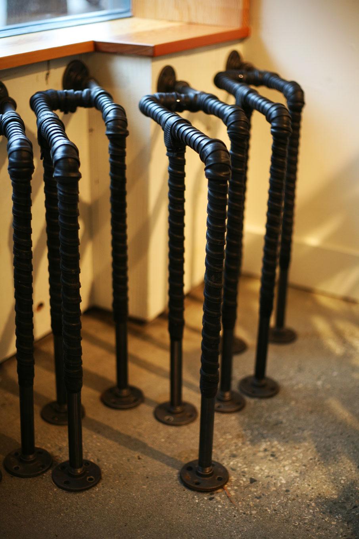 Plumbers Pipe Cladding : Bike racks hayden wood metal design