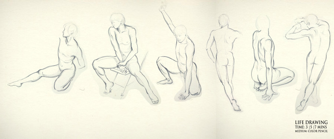 Figure drawing cch design studio life drawings in 3min 5min 10min carbon pencil color pencil capturing the movements of human figure is always